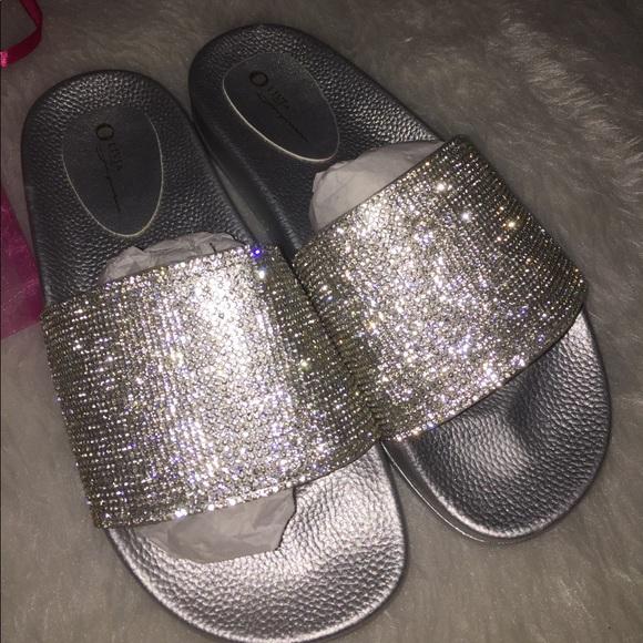 a6860486236 Fashion Nova Shoes - Fashion nova glitter slides brand new